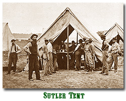 Photo of sutler tent