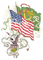 U.S. and Irish Flags